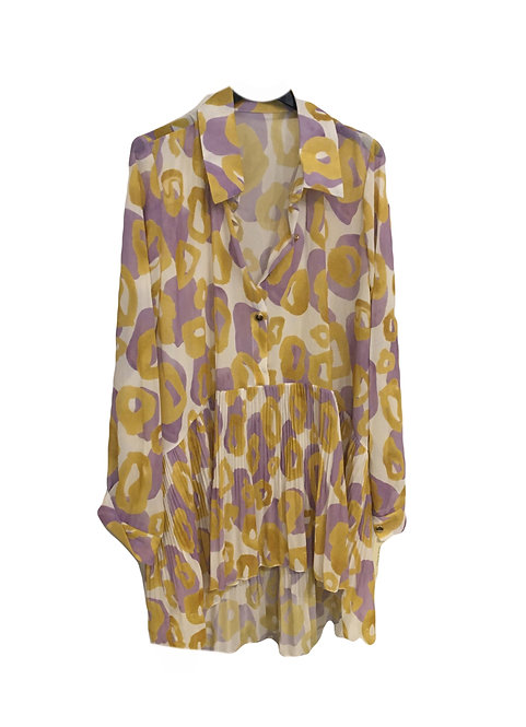 Made in Italy Abstract Shirt Dress NEW