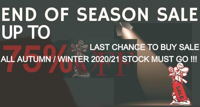 End of Season Sale Autumn/Winter 2020 Designer