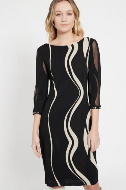Ana Alcazar Black & Cream Abstract BEPPY Dress