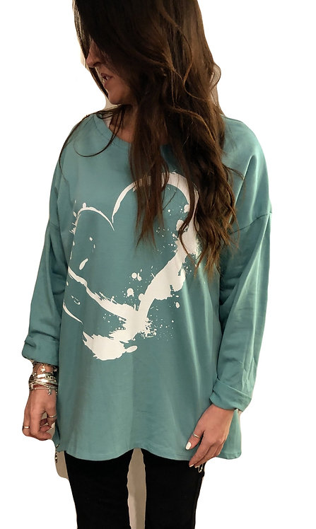 Heart Sweatshirt Mousetrap Sevenoaks The High Street Collection NEW SS2021