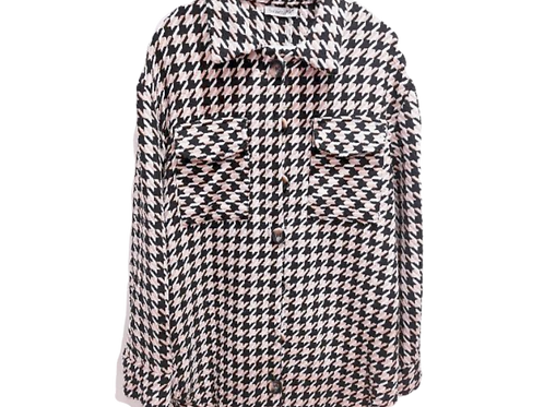 """""""Shacket"""" Black and White Check PdS0433"""