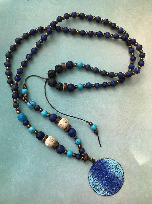 Lapis Mandala Necklace