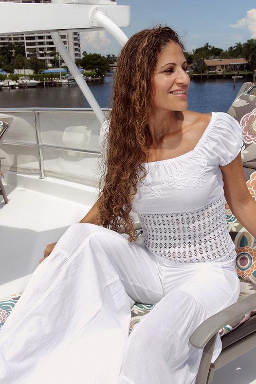 Top Greca in White