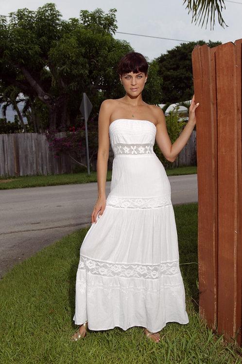 Long Dress Carla in White
