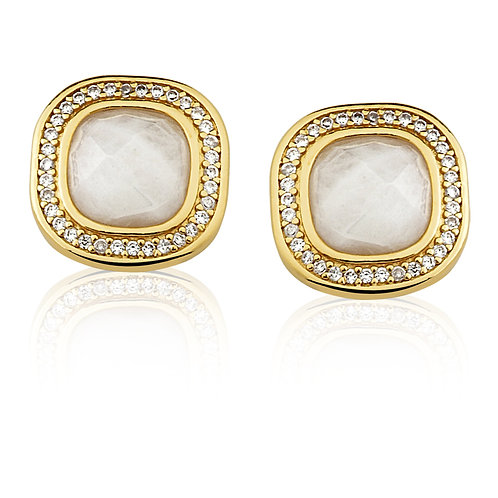 Mother of Pearl and Gold Earrings 3