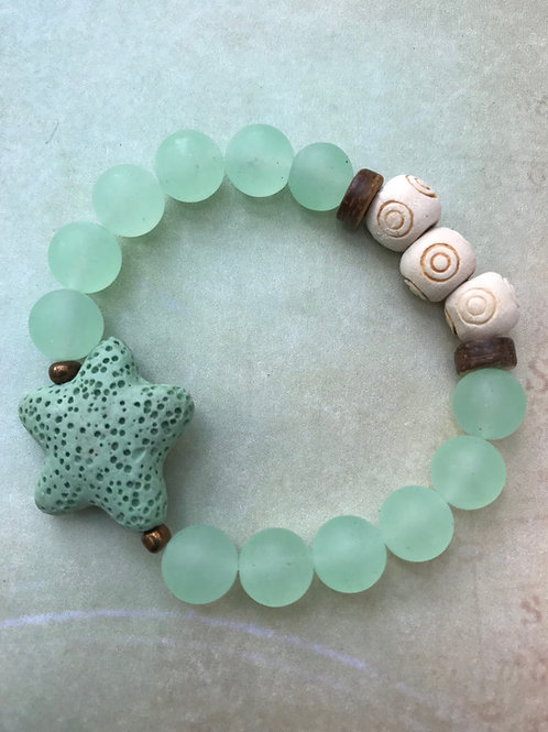 Green Aventurine with Starfish
