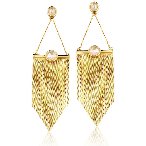 Mother of Pearl and Chains Earrings