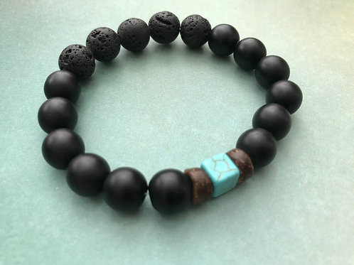 Black Onyx with Turquoise