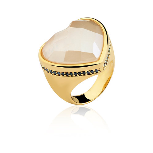 Mother of Pearl and Black Agate Heart Ring.jpg