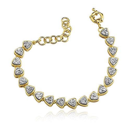 Silver Druzzy Bracelet