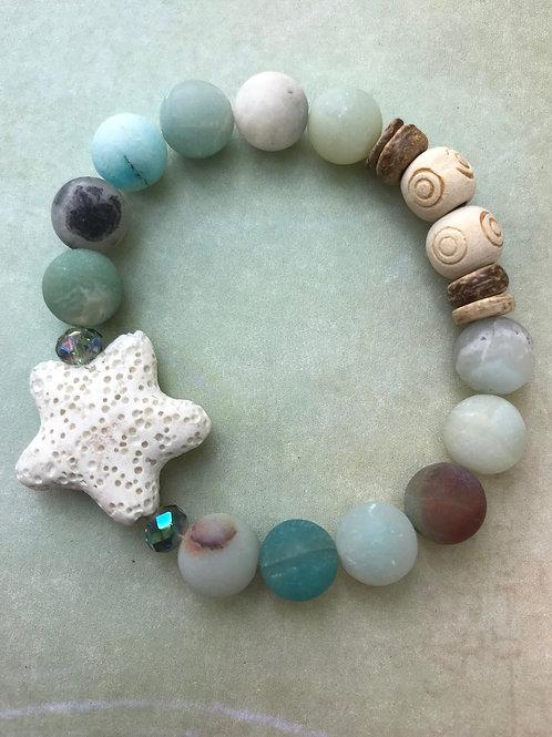 White Starfish Amazonite