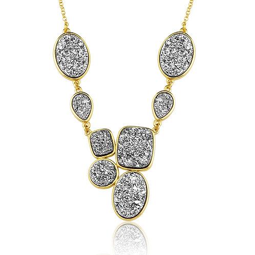 Silver Druzzy Necklace