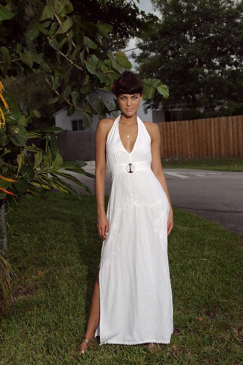 Long Dress Elena in White