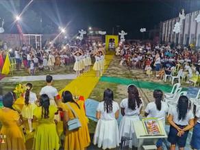 119 crianças se rendem ao Rei Jesus na EBF da AD em Apicum Açu