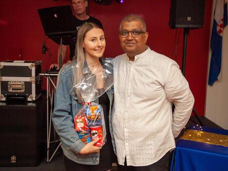 Emma Crabb, Coach of 11/12 Boys 'Red' with Suvas Lobo