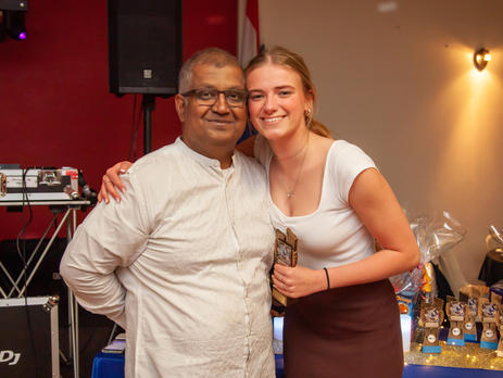 Suvas Lobo with Girls 9/10 'Red' Coaches Award winner, Franchesca Graf