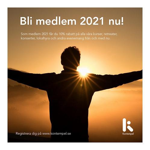 Ge bort medlemskap i Kontempel 2021