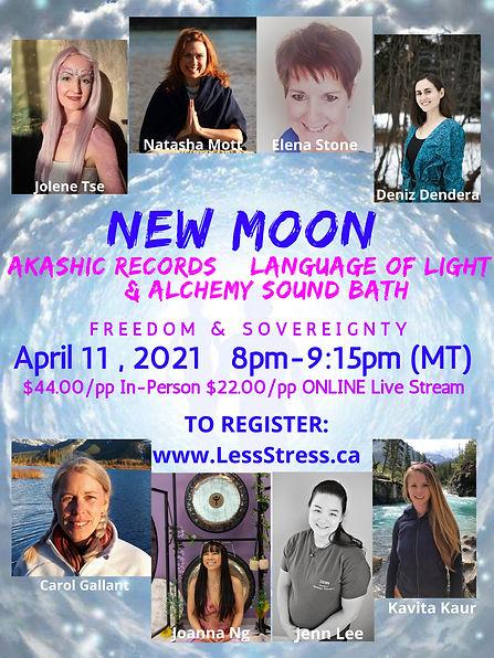 April 11 New Moon Akashic  Alchemy SOund