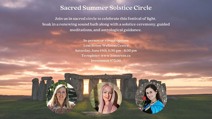 Poster for Summer Solstice Sacred Circle