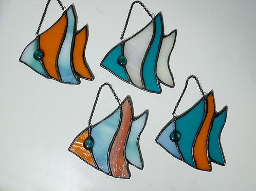 Small Fish. Stained Glass, Handmade