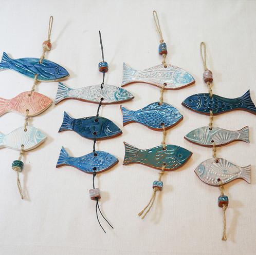 פיסול קרמי / מובייל דגים