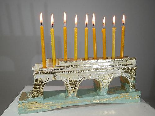 Candlestick Chanukiah (Small)