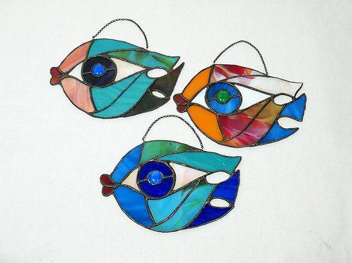 Big Fish. Stained Glass. Handmade