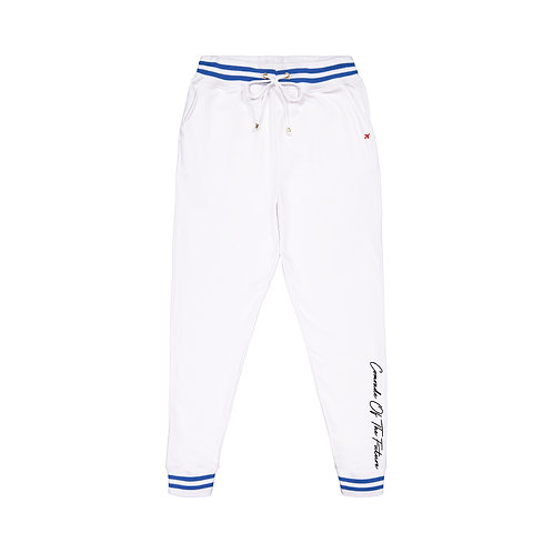 COTF White French Terry Sweatpants