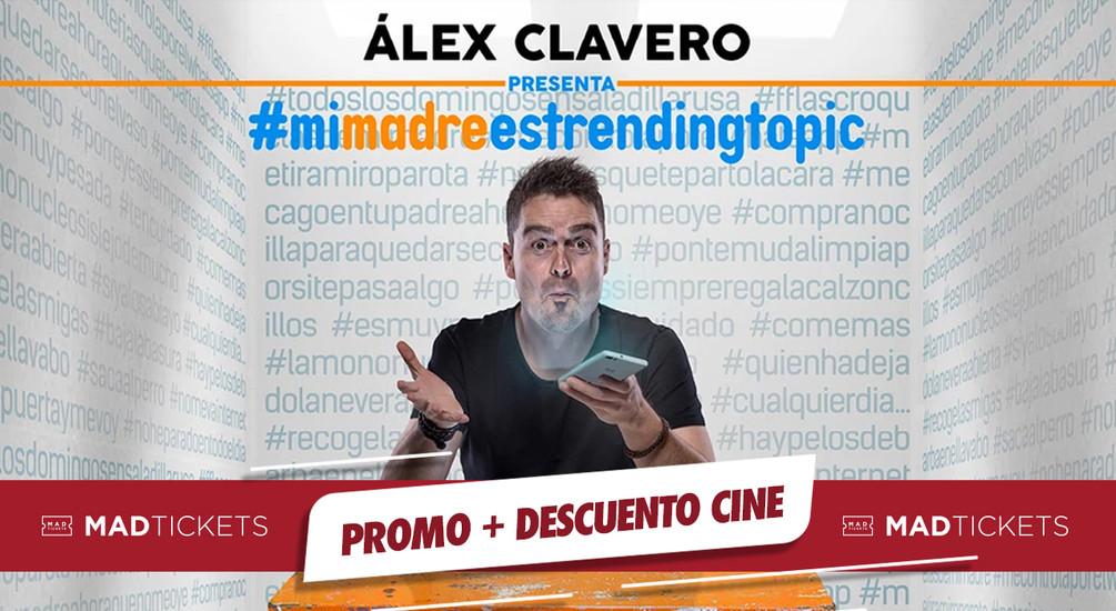 ALEX CLAVERO PROMO + DESCUENTO CINE