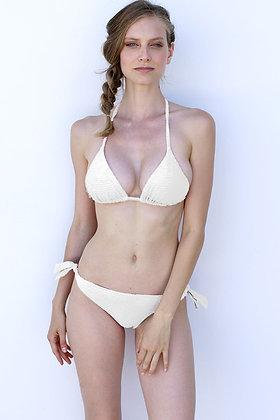Bikini Triangolo ottoman bianco