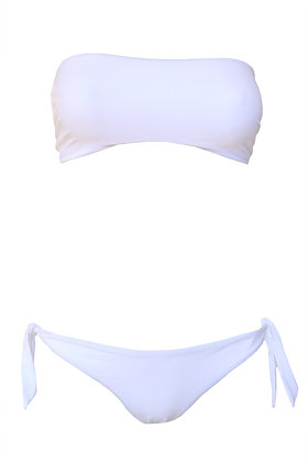 Bikini fascia bianco