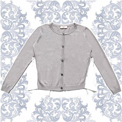 Maglia bottoni camicia perla cashmere