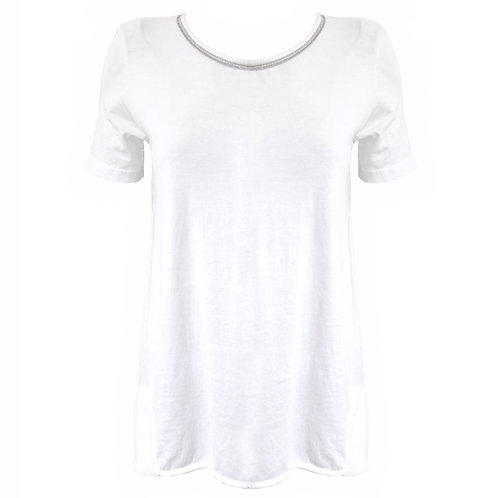 Tshirt in cotone white