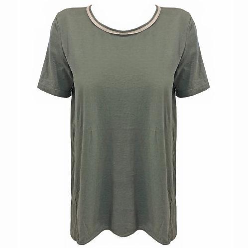 Tshirt in cotone verde