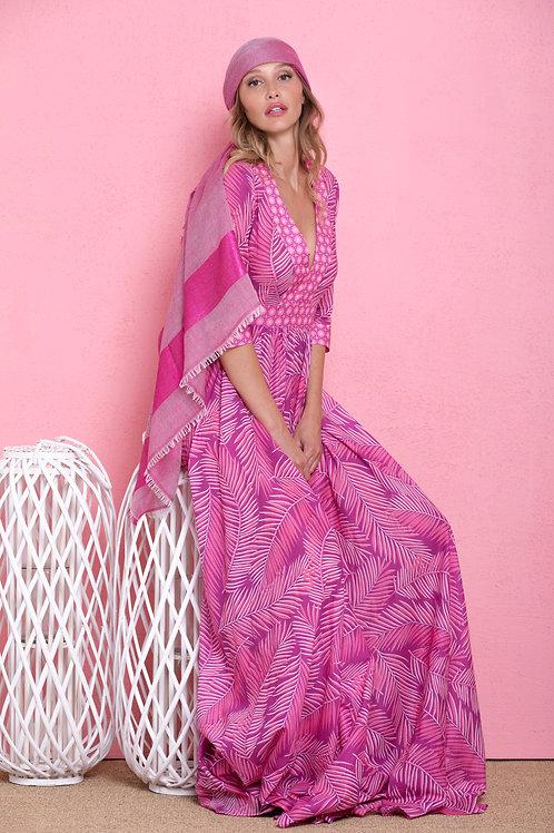Maxi abito lungo rosa