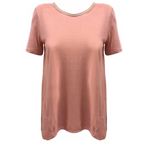 Tshirt in cotone pink