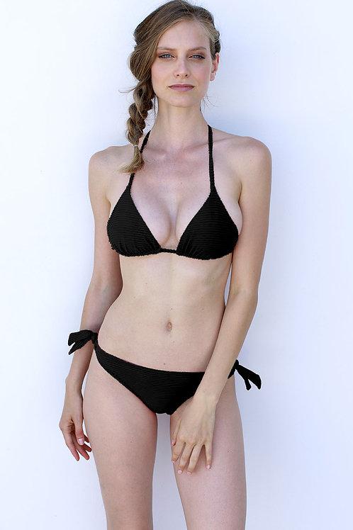 Bikini Triangolo ottoman nero