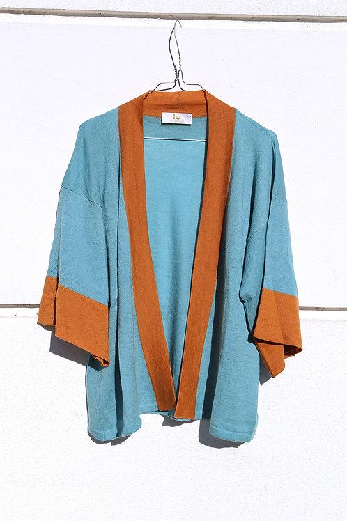 Kimono bicolore cashmere