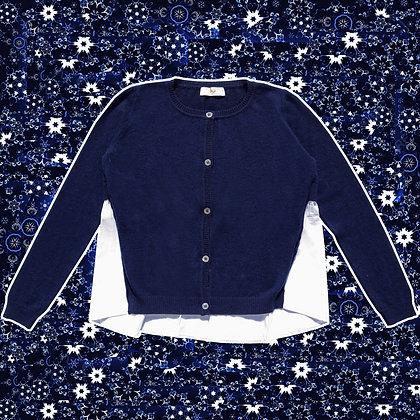 Maglia bottoni camicia cashmere