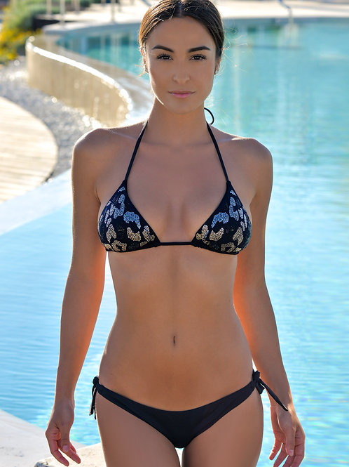 Bikini triangolo gioiello B/N
