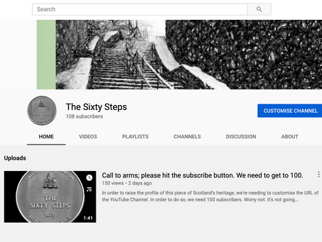 The Sixty Steps YouTube Channel Launched