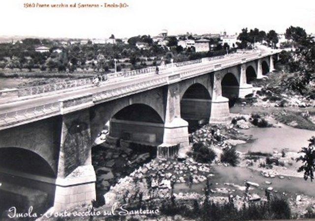 Imola, Ponte Vecchio sul Santerno. Cartolina Anni '60
