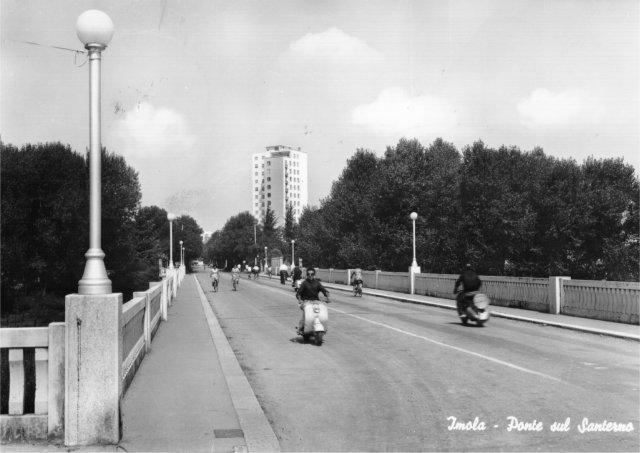 Imola, Ponte di Viale Dante. Cartolina 1963