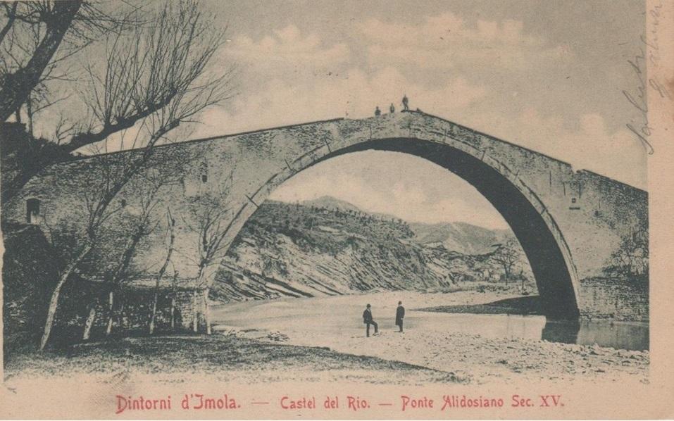 Castel del Rio - Ponte Alidosi. Cartolina Anni '50