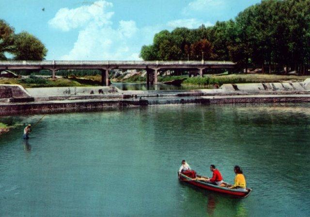 Imola, Ponte di Viale Dante. Foto Anni '60