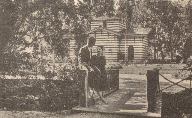 Imola, Acque Minerali. Ponticino sul Rio Rondinella. Foto 1941