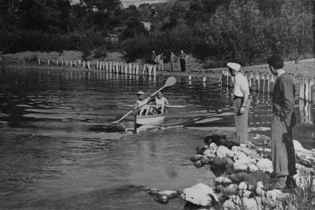 La canoa che si avvia nel fiume!