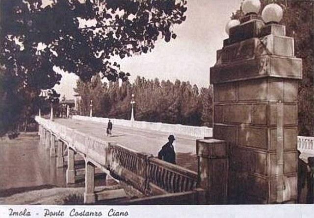 Imola, Ponte di Viale Dante Costanzo Ciano. Cartolina Anni '30