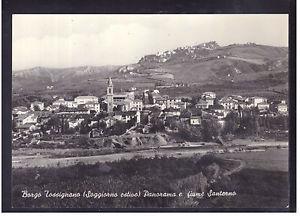 Borgo Tossignano. Panorama e Fiume Santerno. Cartolina Anni '60