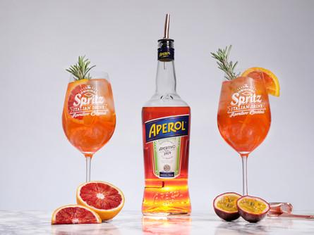 Recette du Spritz à l'orange sanguine et au fruit de la passion